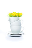 Cup mit Saucers Lizenzfreie Stockbilder