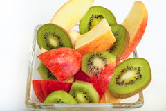 Cup of mixed fruit. Royalty Free Stock Photography