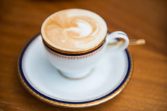 Cup of mocha with milk foam in,cafe. Drink stock photos