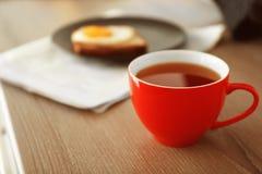 cup morgontea Royaltyfri Fotografi