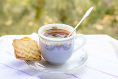 A cup of morning coffee Stock Images