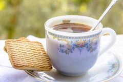 A cup of morning coffee Royalty Free Stock Photo