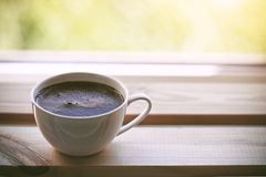Cup of morning coffee stock photography
