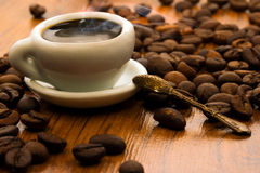 A cup with morning fragrant coffee Stock Photo