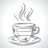 Cup (mug) of hot drink (coffee, tea etc Royalty Free Stock Photography