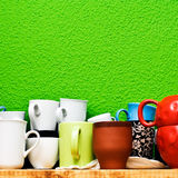 Cup and mug selection Royalty Free Stock Images