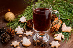 Cup of mulled wine Stock Photography