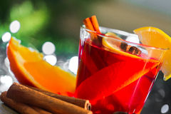 Cup of mulled wine Stock Photos