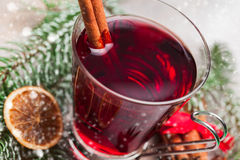 Cup of mulled wine Royalty Free Stock Image