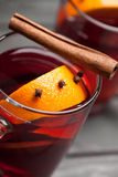 Cup of mulled wine Stock Images