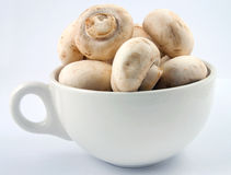 Cup of Mushrooms Royalty Free Stock Images