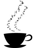 Cup of music. Coffee cup with music notes royalty free illustration