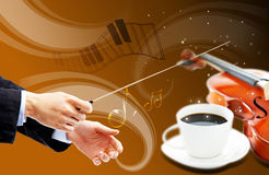Cup of musical coffee Royalty Free Stock Photography