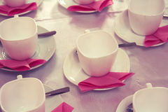 Cup and napkin Stock Photos