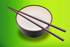 Cup Noodles On Green Royalty Free Stock Images