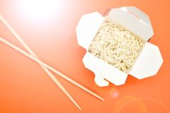 Cup Of Noodles. A studio photo of a cup of noodles Royalty Free Stock Photos