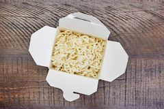 Cup Of Noodles. A studio photo of a cup of noodles Royalty Free Stock Images