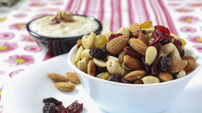 Cup of nuts Stock Images
