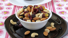 Cup of nuts Stock Photography