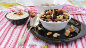 Cup of nuts Royalty Free Stock Images