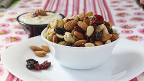 Cup of nuts Royalty Free Stock Image