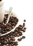 Cup O Joe. Coffee beans on a white background Stock Photo