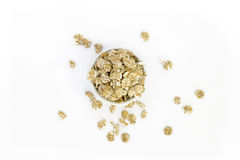 Cup of oatmeal flakes Royalty Free Stock Photos