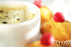 Cup Of Coffee And Muffins Royalty Free Stock Photos
