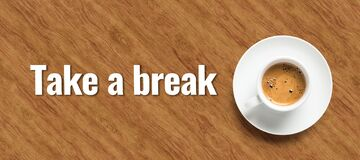 Free Cup Of Coffee And Text TAKE A BREAK Royalty Free Stock Photos - 175116768