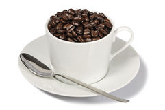 Free Cup Of Coffee Beans Royalty Free Stock Photo - 18278235