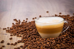 Cup Of Coffee Latte Stock Photos