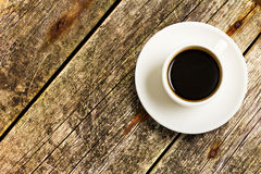 Cup Of Coffee On A Wood Stock Photography