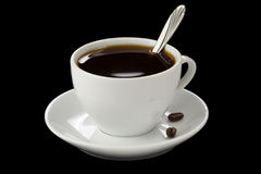 Cup Of Coffee On Black Royalty Free Stock Image