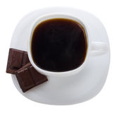 Cup Of Coffee With Chocolate Bars