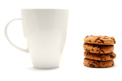 Cup Of Coffee With Chocolate Cookies Stock Photography