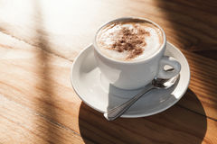 Free Cup Of Coffee With Milk Foam And Cinnamon Royalty Free Stock Image - 84251846