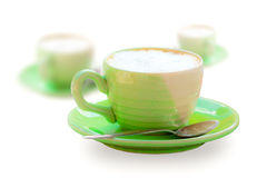 Cup Of Green Coffee Royalty Free Stock Image