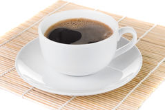 Cup Of Hot Black Coffee Stock Images