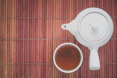 Cup Of Hot Chinese Tea And Tea Pot Royalty Free Stock Images
