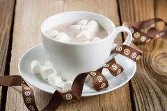 Cup Of Hot Chocolate With Marshmallows Royalty Free Stock Photography