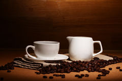 Cup Of Hot Coffe Stock Photo