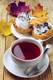Cup Of Tea And Cakes Stock Photo