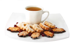 Cup Of Tea And Cookies Stock Photography