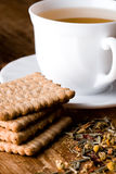 Cup Of Tea And Fresh Cookies Royalty Free Stock Images