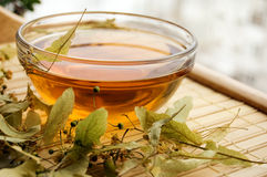 Cup Of Tea From Dry Lime-tree Stock Images
