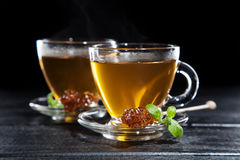Cup Of Tea On Dark Background Royalty Free Stock Image