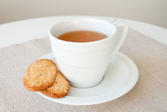 Free Cup Of Tea With Cereal Biscuits Royalty Free Stock Photos - 28872218