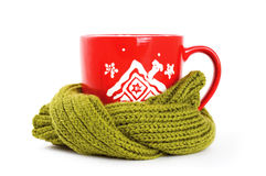 Cup Of Tea With Winter Ornament Royalty Free Stock Photography