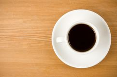 Cup off coffee on wood Stock Photos