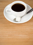 Cup off coffee on wood Royalty Free Stock Photos